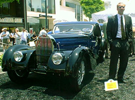 Nicolas Cage and his Bugatti Atalante