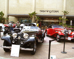 Mercedes-Benz 540 K Special Roadster and 540 K Cabriolet A at Fashion Island