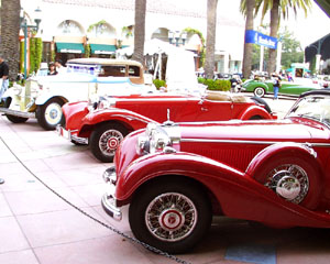 Mercedes-Benz 540 K Cabriolet B, Mercedes-Benz 500 K Sport Roadster and 1931 Maybach Zeppelin  at Fashion Island
