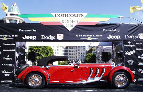 Concours on Rodeo 2000 - Best of Show : 1927 Mercedes-Benz Armbruster Cabriolet