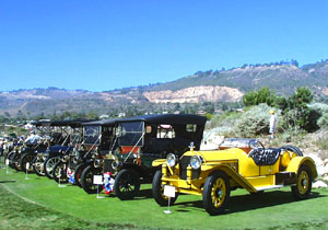 Marmon Speedster and Ford Model T Tourer at Palos Verdes Concours d'Elegance