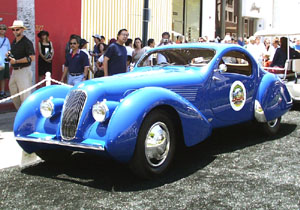 Concours on Rodeo 2001 - 1938 Talbot-Lago t23 Teardrop Coupe
